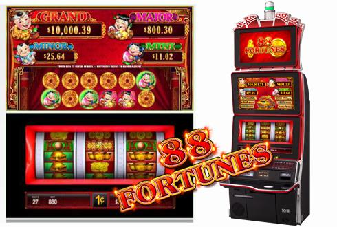"""2 Nouvelles Machines à Sous """"88 Fortunes"""""""